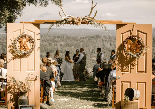 country ceremony doors