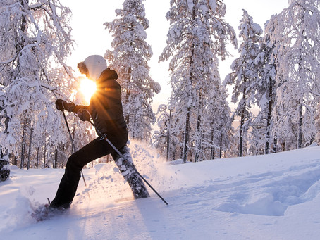 Snowshoeing & 'kaamos'