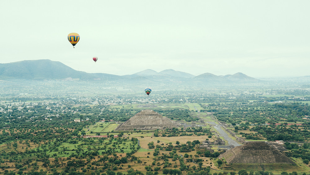 Hot Air balloon Mexico Teotihuacan