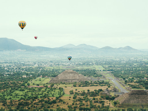 Hot Air Balloon Over Teotihuacan Pyramids | Thrilling Mexico Adventure