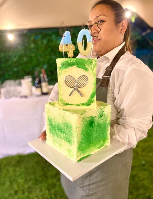 Wimbledon theme cake.jpg