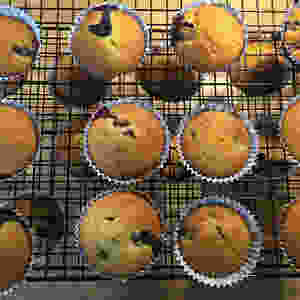 Gateau au yaourt blueberry cupcakes