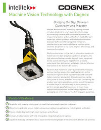 Machine Vision Technology with Cognex data sheet