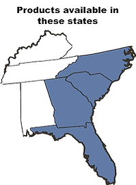 map southeast us south north carolina georgia florida