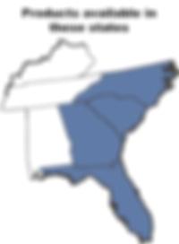 map southeast us south north carolina georgia florida