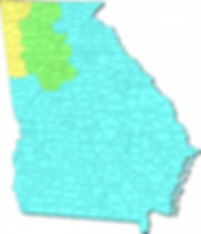 County map of Georgia showing the terrirories of our regional managers.