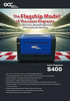 Tech Ed Concepts/LaserPro S400 laser engraver/cutter brochure.