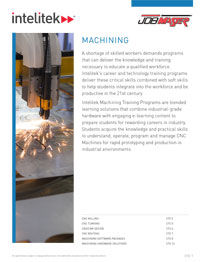 Intelitek's Machining catalog