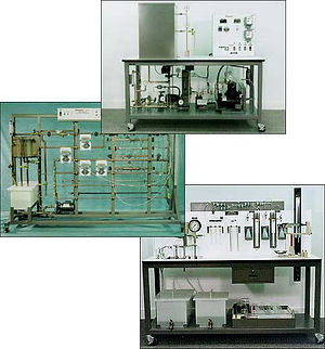 hampden engineering fluid refrigeration trainer panel demonstrator pressure