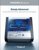 Roland DG MODELA MDX-50 CNC Mill brochure cover