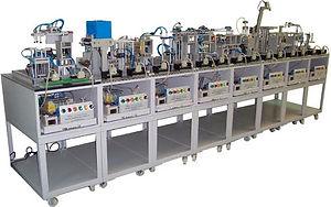 Sun Equipment mcd 61100 module cd production system mechatronics control hydraulic pneumatic electrical sensor plc