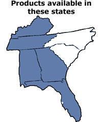 map southeast us tennessee georgia alabama florida kentucky