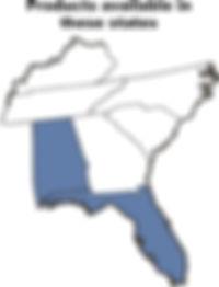 map southeast us alabama florida