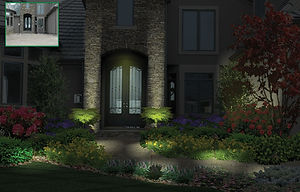 PRO Landscapig's night lighting feature