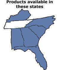 map southeast us kentucky south north carolina georgia alabama florida