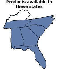 map southeast us tennessee south north carolina georgia alabama florida