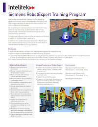 Siemens RobotExpert Training Program data sheet