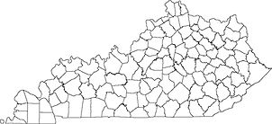 County map of Kentucky.