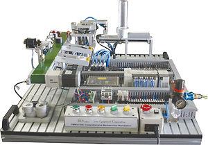 Sun Equipment comprehensive mechatronics workstation cmw 61300 sensor pneumatic actuator valve plc motor