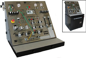 tii exp3-b industrial electro pneumatic training system fluid air circuit plc