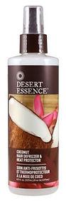 desert essence coconut hair defrizzer an