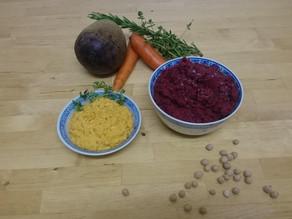 Hummus mit Rüebli und Randen