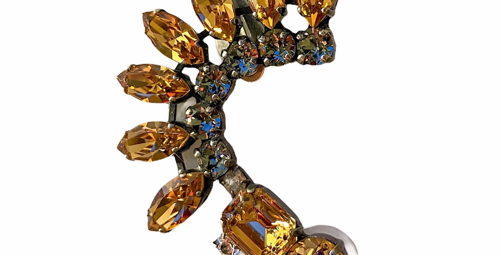 Gold Cuff - Swarovski Crystals