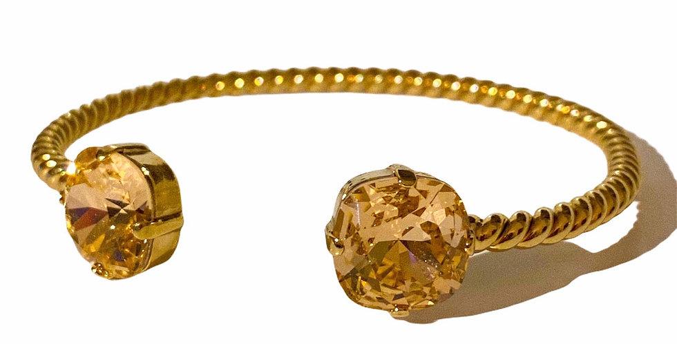 Gold Minimalism - Swarovski Crystals