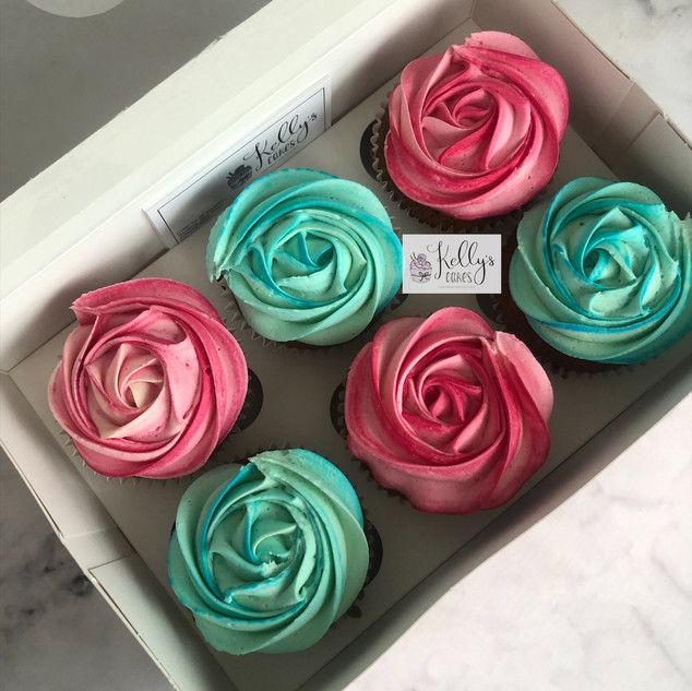 Blue and Pink Cuppies