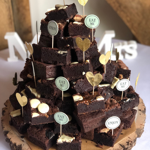 Wedding Brownie Stack