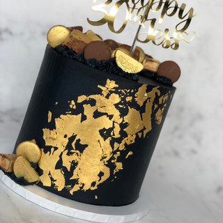 Navy and Gold Leaf