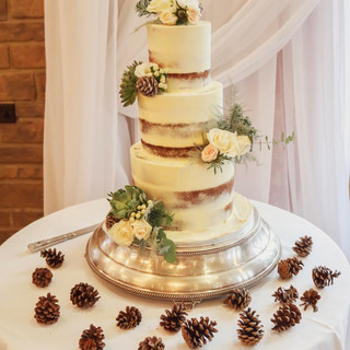 Semi Naked Tiered Cake