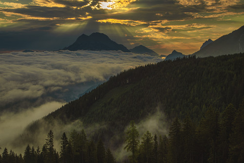 Mystic Sunrise above Gesäuse National Park