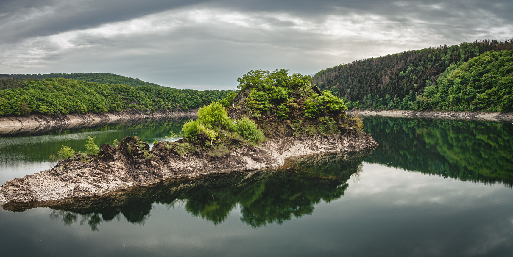 Isle in Urft Water Reservoir