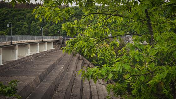 Urft Dam; Water Overflow