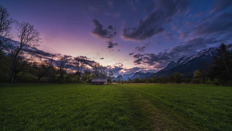 Sunrise at River Enns Valley