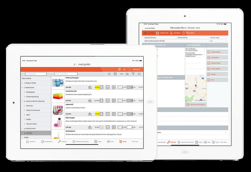 nexti  App | Shopsystem und Serviceplanung | reinbold.com gmbh