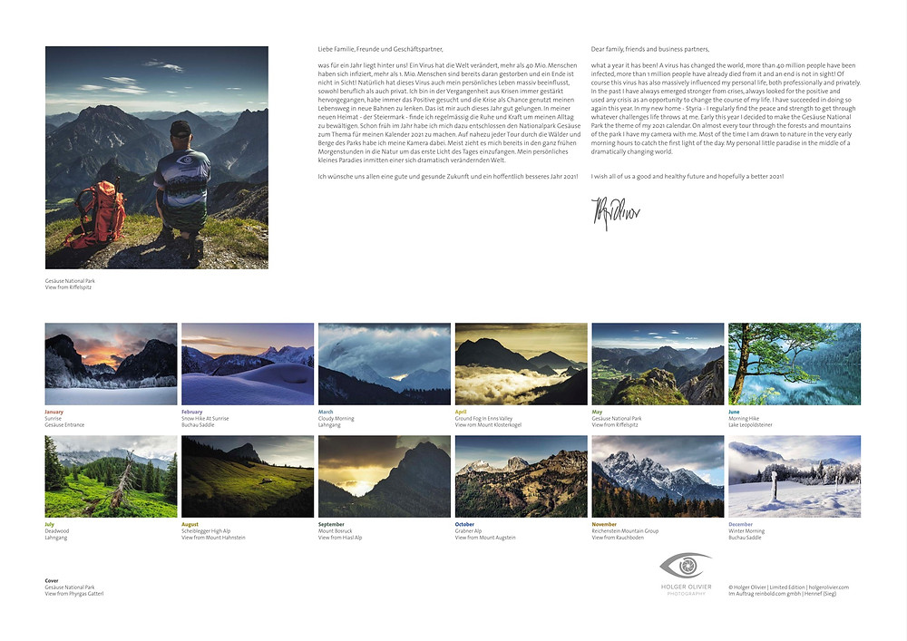 Calendar 2021 | HolgerOlivier Photography