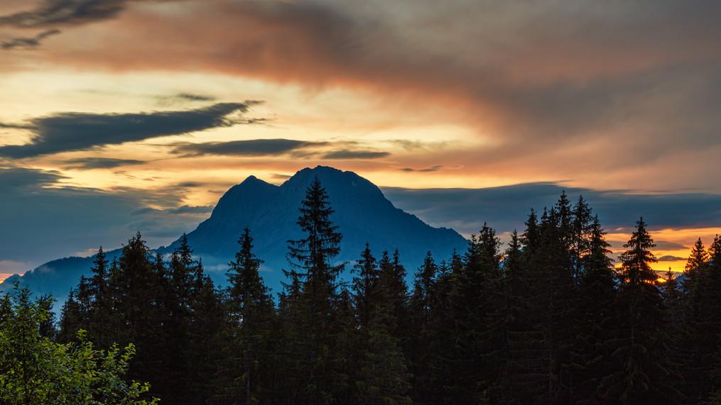 Sunrise above Great Buchstein