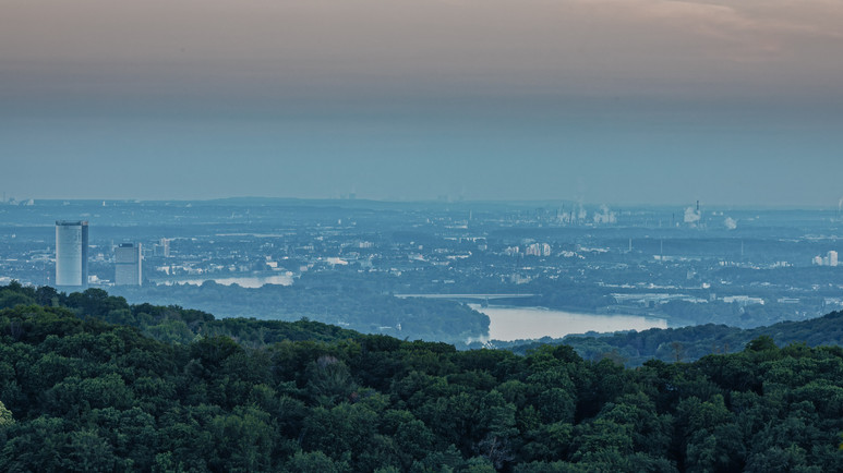 View to Bonn City with River Rhine