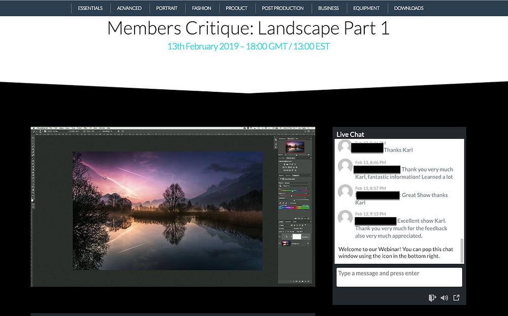 Karl Taylor Education | Members Critique | Landscape | HolgerOlivier Photography