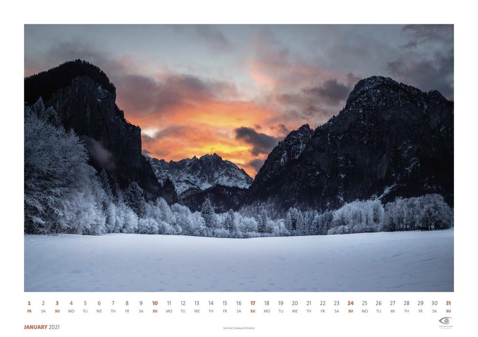 Calendar 2021 - January