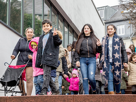 Flüchtlingskinder besuchen Polarexpress