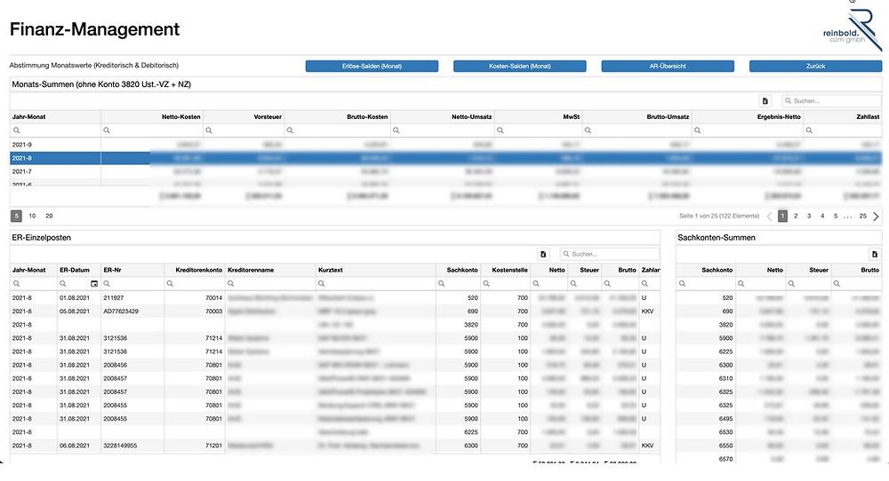 reinbold.com gmbh   Finanz-Management   GAPTEQ - Applikation