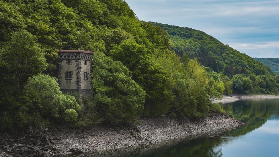 Old Tower at Urft Water Reservoir