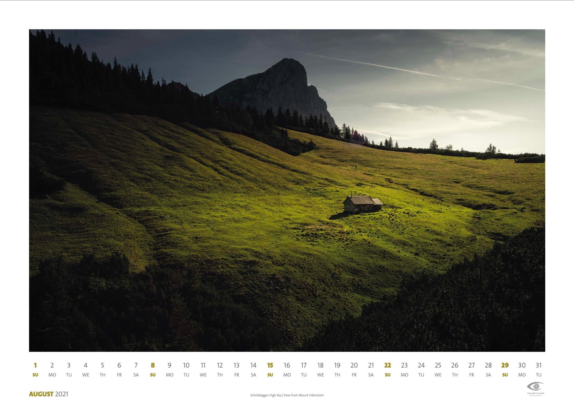 Calendar 2021 | August