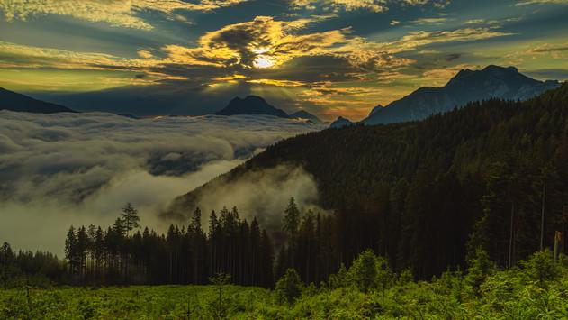 Mystic Sunrise above Gesäuse National Park