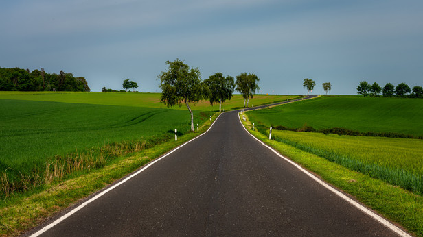 Country Road to Urft Dam