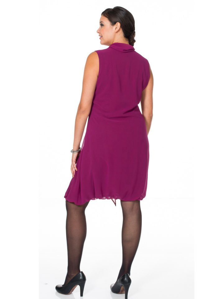 new product d0b2a 362ed Sheego Chiffon-Cocktailkleid, beere