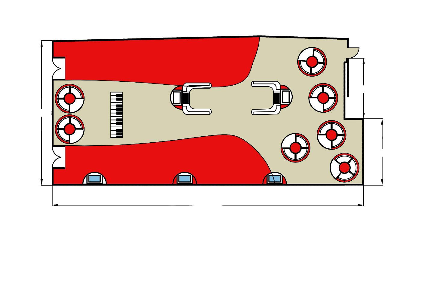 Clinton coloured floorplan top view